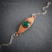 listek z zielonym agatem – bransoletka krupkowska.com