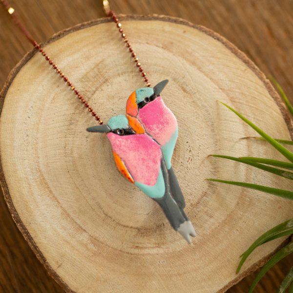 żołny kolorowa broszka ptaki polskie