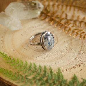 księżycowy pierścionek ze srebra krupkowska.com