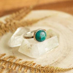 duch lasu - srebrny pierścionek z kuprytem  krupkowska.com